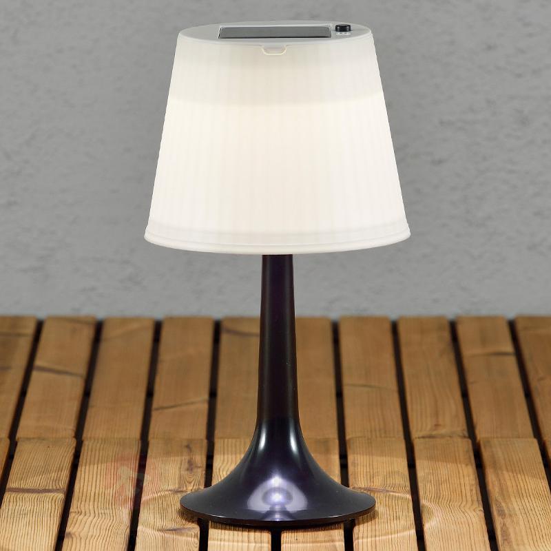 Lampe à poser solaire LED noire Assisi Sitra - Toutes les lampes solaires