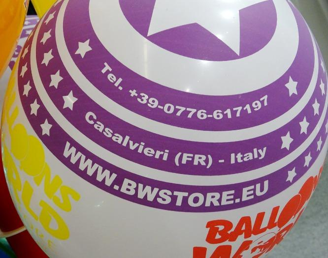ADVERTISING PRINTS - Digital or silk-screen advertising prints on balloons