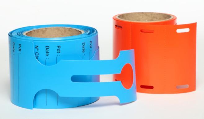 Étiquette PVC PLASTIQUE - livrée en continu  -