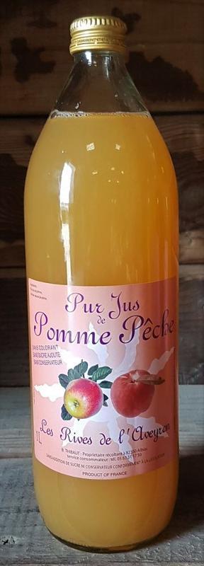 100% Pur Jus de Pomme-Pêche - Boissons