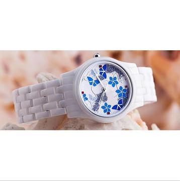 ceramic watch GCC-XXL822 in Portugal butterfly  - nice butterfly Anti-scratch 3ATM water resistant ceramic analog watches factory