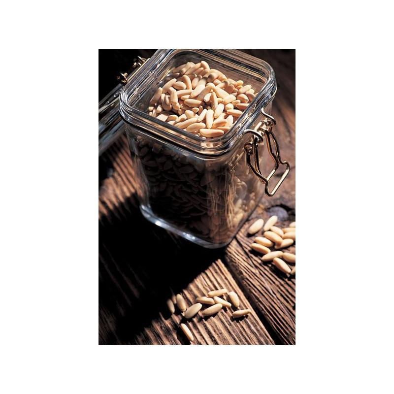 1 bocal de luxe Le Carré 350 ml fermeture mécanique dorée (or fin) - BOCAUX LE CARRE