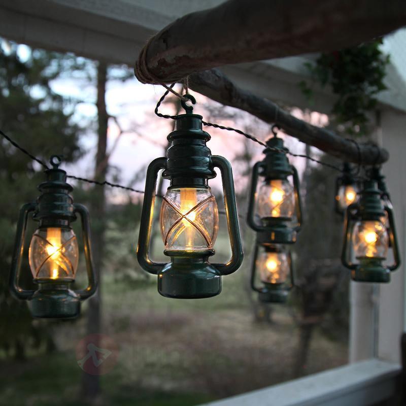 Guirlande lumin. Lanterna avec 8 lanternes - Guirlandes lumineuses LED d'extérieur