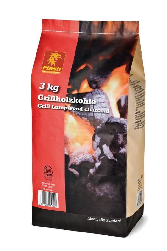 FLASH Grillholzkohle 3 kg - null