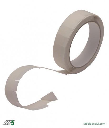Bollini biadesivi quadrati removibili 15x15 mm con linguetta -