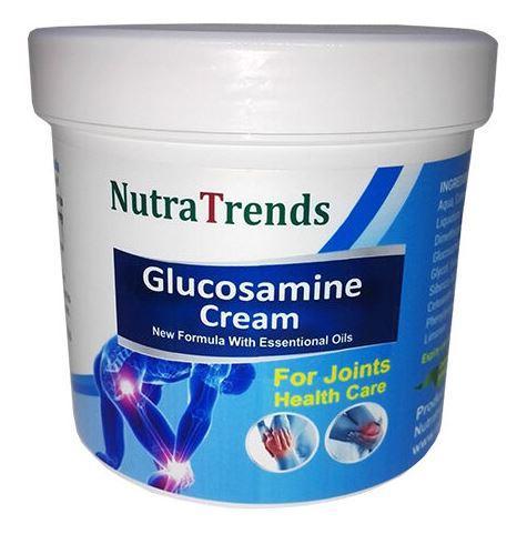 Glucosamine cream with Essential Oils for joints, bones and  - Glucosamine cream with Essential Oils for joints, bones and muscle care 250ml EU