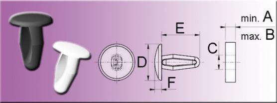 Drive fasteners - Rivets PA 6.6