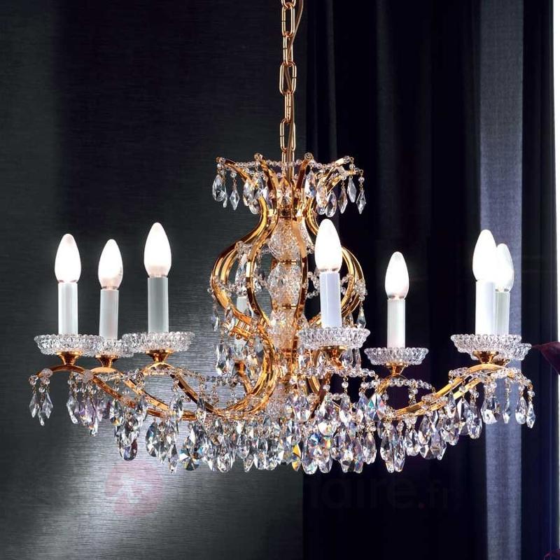 Lustre cristal HIROA, doré de 247 carats - Lustres classiques,antiques