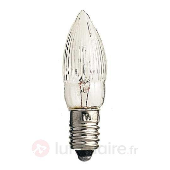 Pack de 3 lampes bougie E10 3W 12V - Ampoules à l'unité