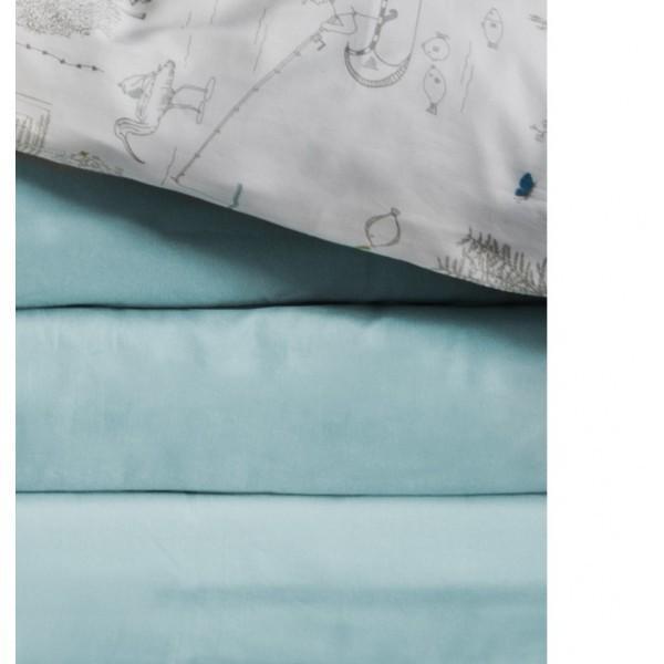 Drap housse Morning Blue - null