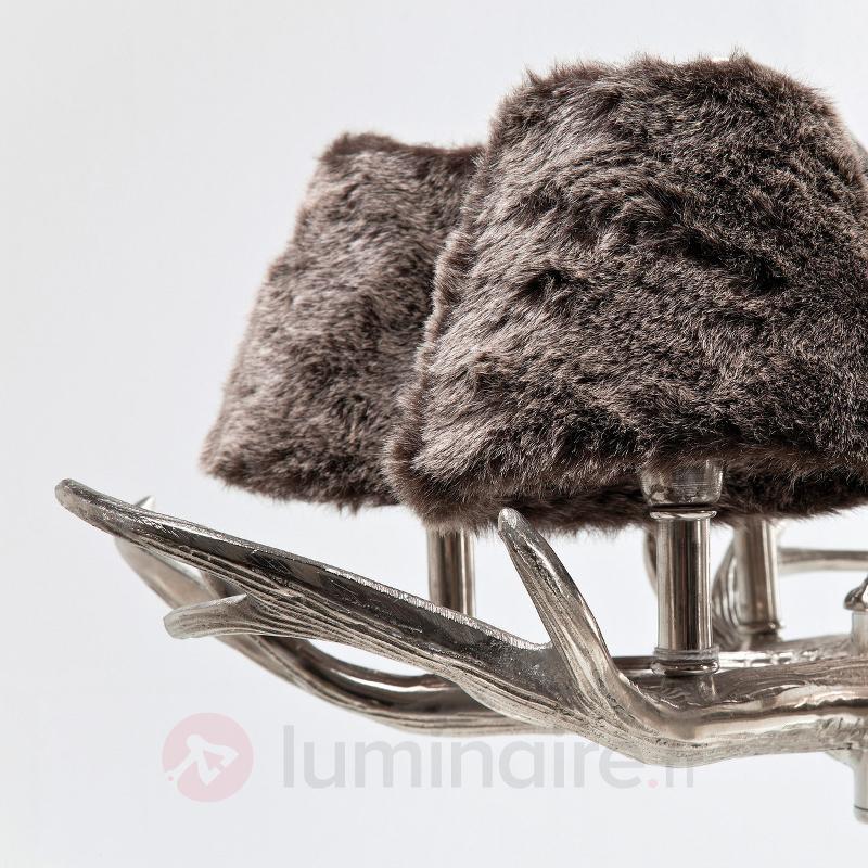 Abat-jour en fausse fourrure - lustre Huntsman - Lustres rustiques