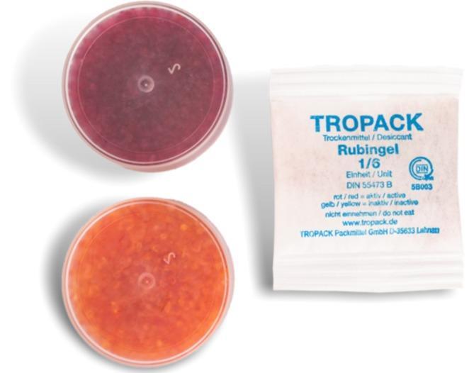 Rubingel Trockenbeutel mit hochaktivem Indikator Silicagel -