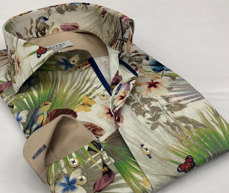 Cotton digital printed slimfit men's shirts - Manufacturing men's shirts for labels...