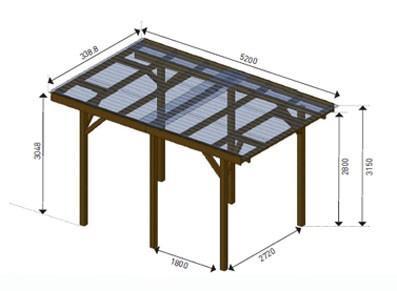 Abri en bois - Autoclave