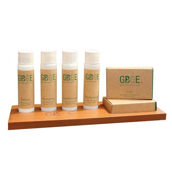 GBGE Biodegradable Hotel Amenities Set - lemon verbena scent and natural formula, filling in biodegradable packages