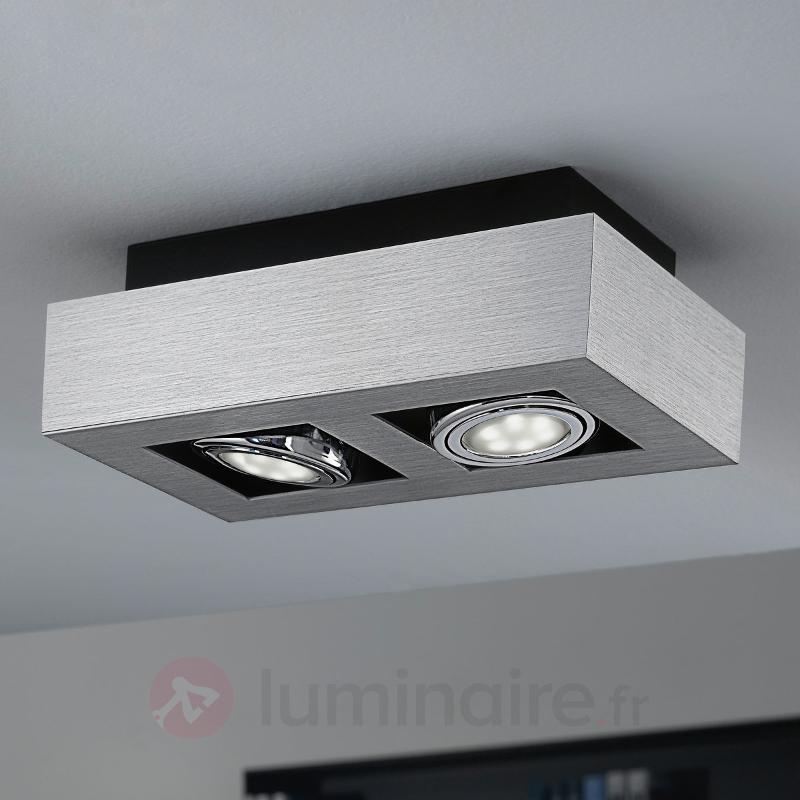 Plafonnier LED à deux lampes Loke - Plafonniers LED