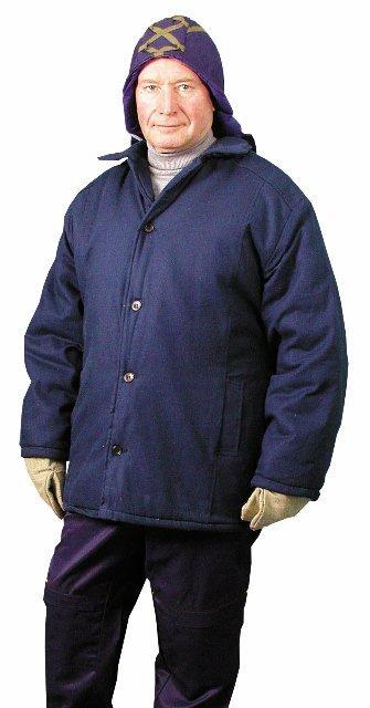 Куртка ватная ( диагональ) - прямого силуэта на утеплителе (ватин два слоя простеганный)