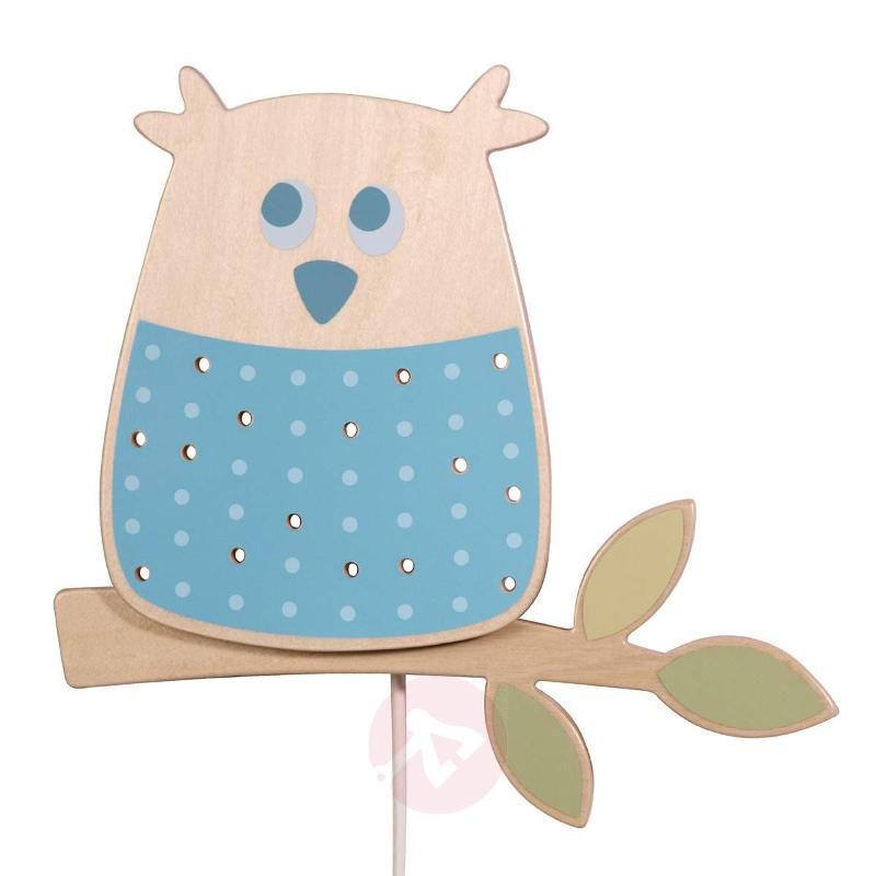 Forest Owl Wall Light Made of Wood Lovely - Wall Lights