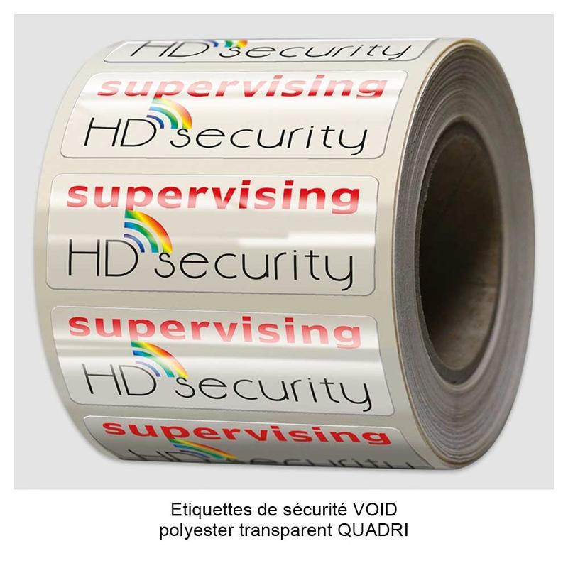 Étiquettes de sécurité VOID RED/UV - Étiquettes de sécurité