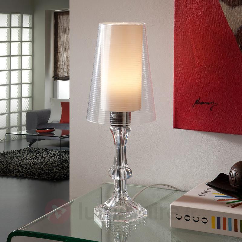 Lampe à poser transparente Wendy, double abat-jour - Lampes de chevet