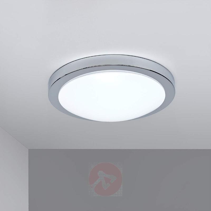 Glossy chrome Arias LED bathroom ceiling light - Ceiling Lights