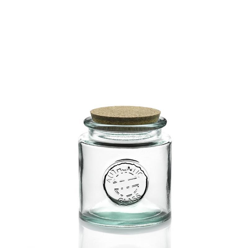 1 bocal Rond 500 ml, en verre avec bouchon en liège, gamme Authentic - Pots et bocaux Ronds