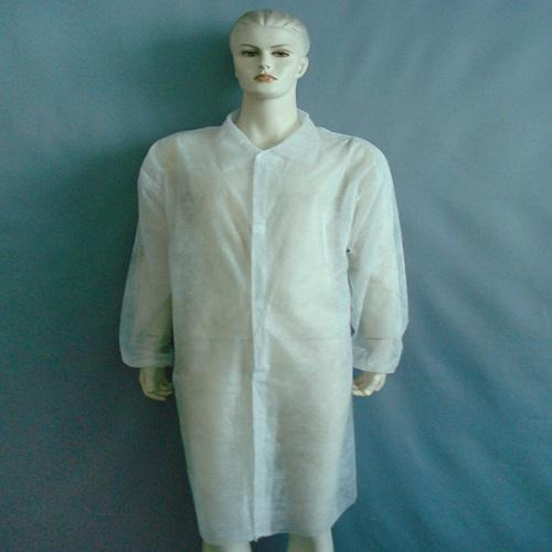 Nonwoven lab gown