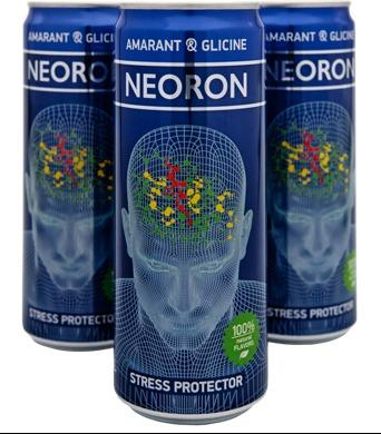 NEORON Amaranth - Toning soft drink with stress-protective effect. Aluminum can,  0.33 L