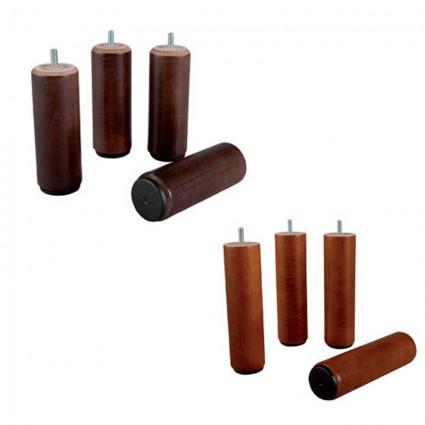 Sommier et Mobilier - Paire de Pieds de sommier bois cylindrique