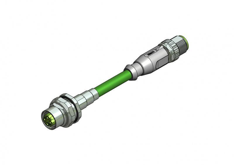 Industrial Ethernet Steckverbinder M12x1 - Industrial Ethernet Steckverbinder M12x1