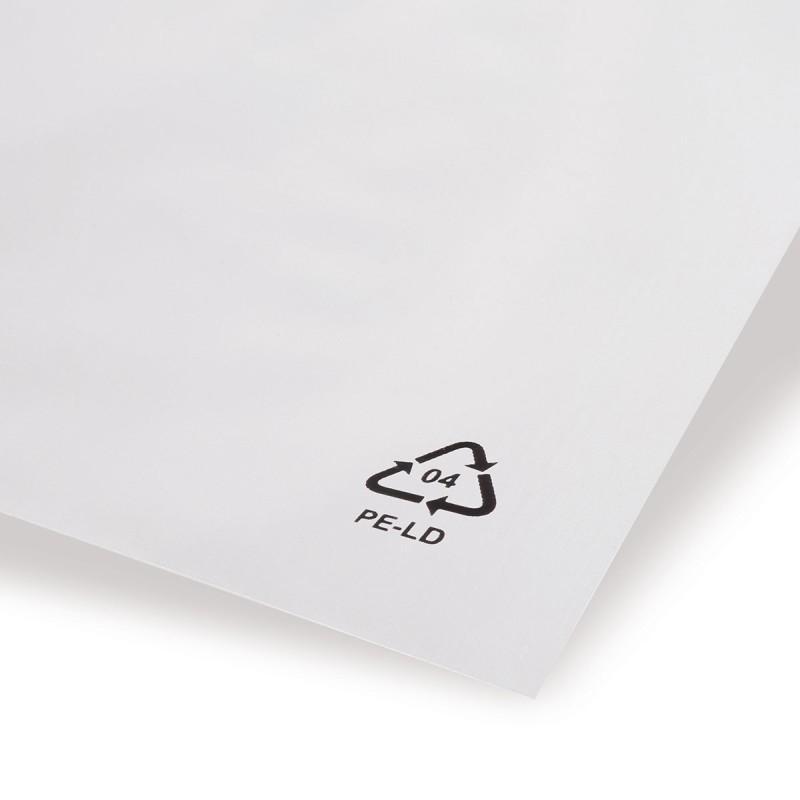 LDPE-Adhäsionsverschlussbeutel mit abgeschrägter Klappe - LDPE-Adhäsionsverschlussbeutel mit abgeschrägter Klappe