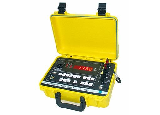 Battery-operated microohmmeter - RESISTOMAT®  2323 - Digital ohmmeter, portable, low-resistance, rugged , RS232 interface