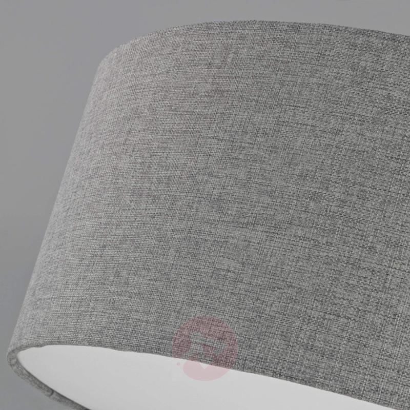 Silver grey fabric ceiling lamp Pitta - indoor-lighting