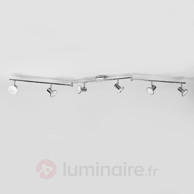 Spot de cuisine LED Charley à six lampes - Plafonniers LED