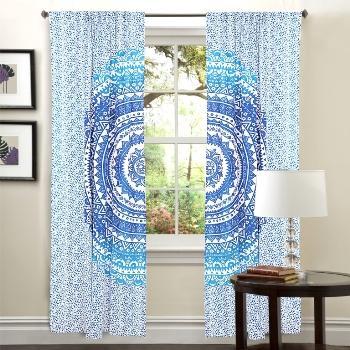 Indian Tapestry Mandala Curtain Boho Window Curtains Decor   Door Window  Curtain Drape Panel Mandala Curtain ...