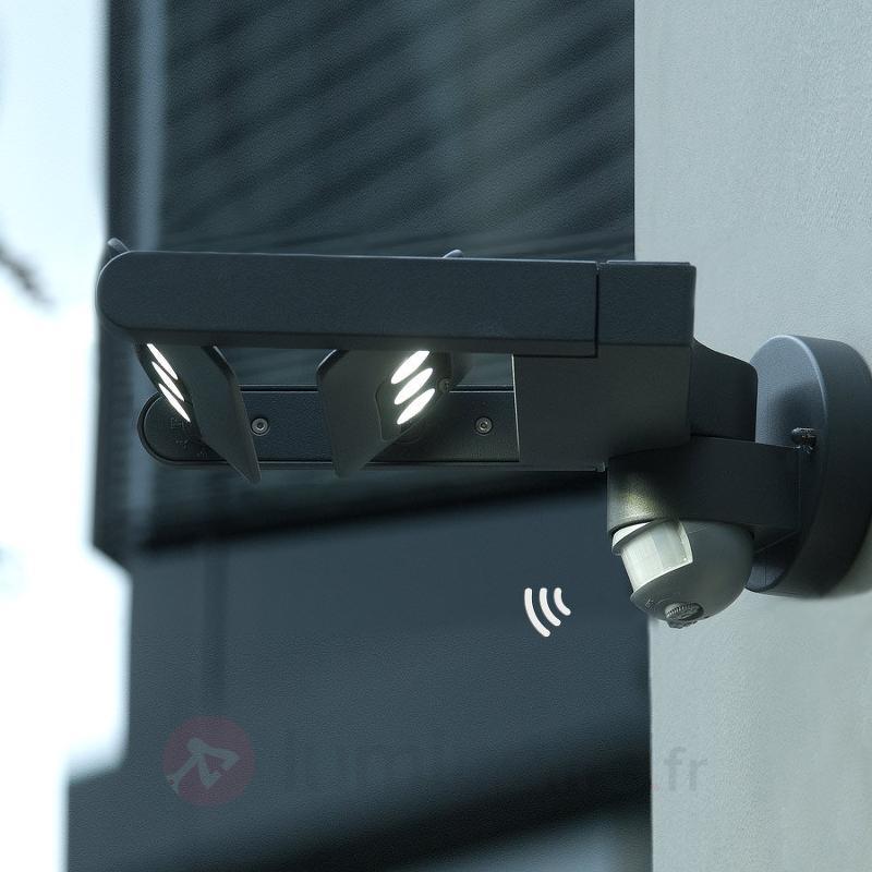 Applique ou projecteur d'ext LED Keiran 6 lampes - Appliques d'extérieur avec détecteur
