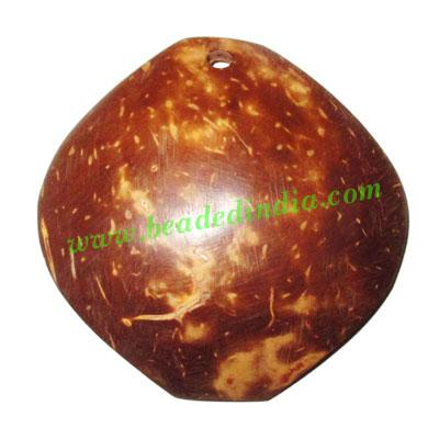 Handmade coconut shell wood pendants, size : 53x3mm - Handmade coconut shell wood pendants, size : 53x3mm