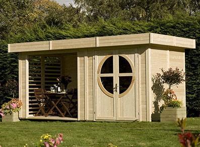 Abri de jardin en bois - Avec extension
