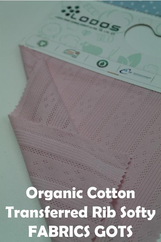 Organic Cotton Transferred Rib SUPERSOFT - Organic transferred rib fabric, different designs available