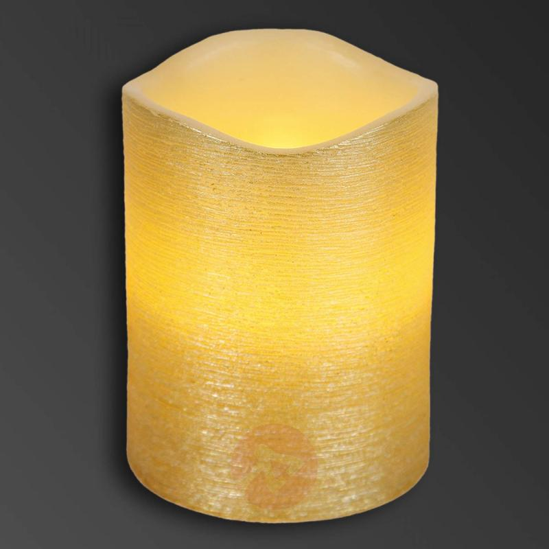 Pretty real wax LED candle Linda structured 10 cm - design-hotel-lighting