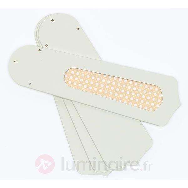 Ventilateur de plafond excl. Princess Trio blanc - Ventilateurs de plafond lumineux
