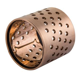 Wrapped bronze sliding bearing - BRO-MET® / LD  - with perforations and sealing at both ends*