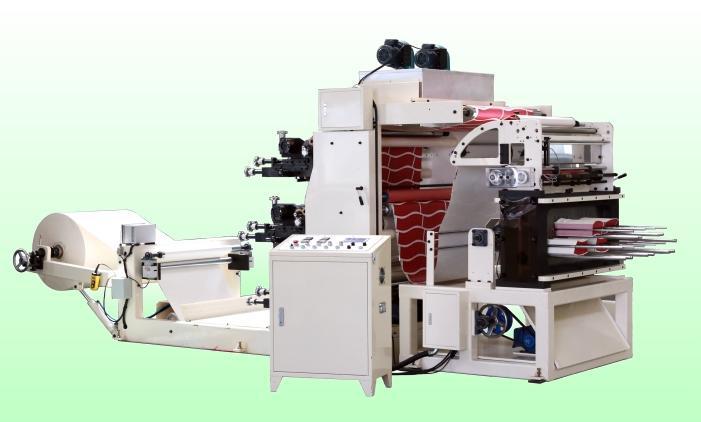 flexo print punch machine - 3 or 4 color flexo printing