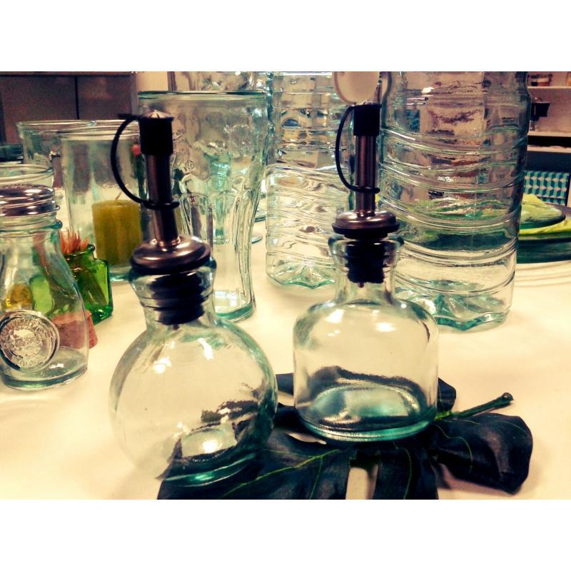 Lot de 6 Huiliers/ vinaigriers Ovalada avec bec verseur inox, 125 ml - Vaisselle de Table
