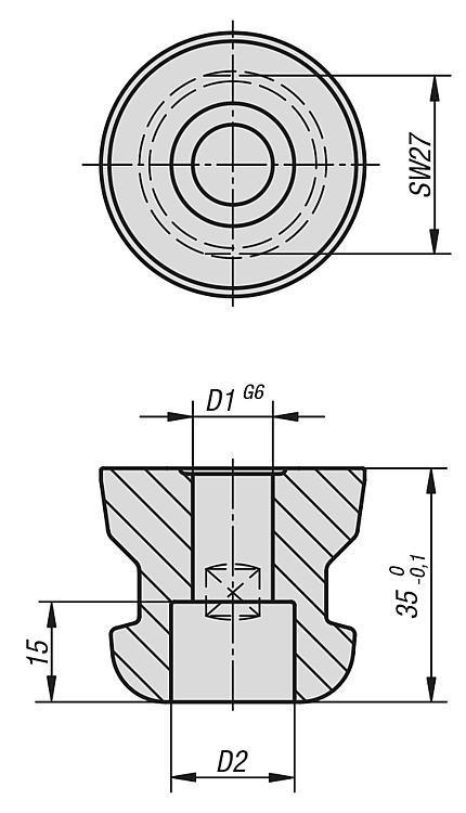Tenon de serrage 5 axes UNI lock pour fixation de... - UNI lock Pas de 80 mm