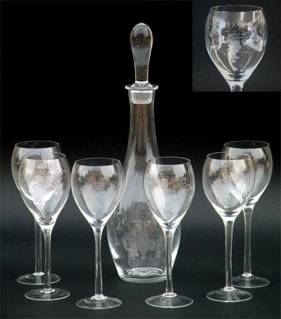 set de 6 pc. verres de vin + karaf Christof - 102473