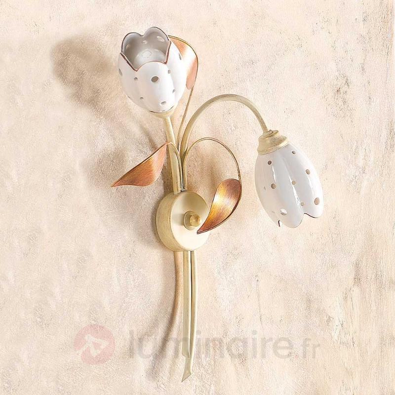 Applique florale TULIPANO à 2 lampes - Appliques style florentin
