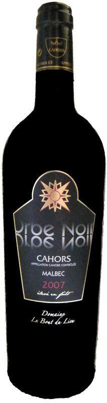 Vin arômes de mûres, cassis - AOC Cahors - Élevé en fûts  Orbe Noir