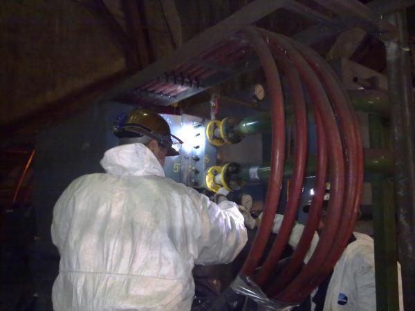 Entretien échangeur Air/Eau Moteur 6300 kW - Maintenance électro-mécanique sur site