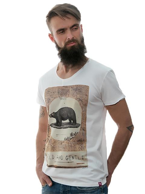 "PRINTED T-SHIRT ""WILD AND GENTLE"" – EXCLUSIVE DESIGN - Casual collection of Stezzo Vivere"